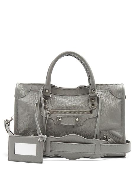metallic classic bag light grey