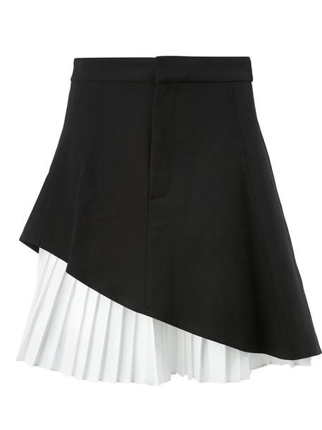 Alexis skirt women spandex cotton black wool