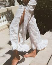 pants,white pants