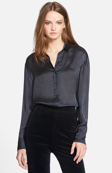 Alexa Chung for AG 'Dottie' Silk Shirt | Nordstrom