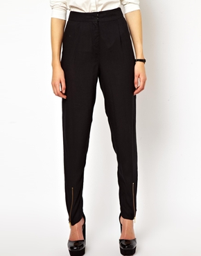 ASOS | ASOS Peg Pants with Zip Front Detail at ASOS