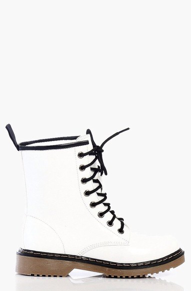shoes combat boots white
