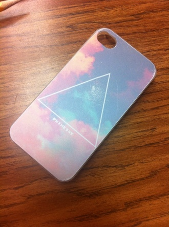 color phone case triangle pattern