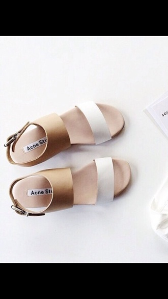 shoes cute summer spring sandals flats acne studios minimalist shoes