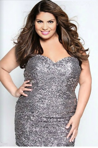 dress sparkle dress silver dress curvy