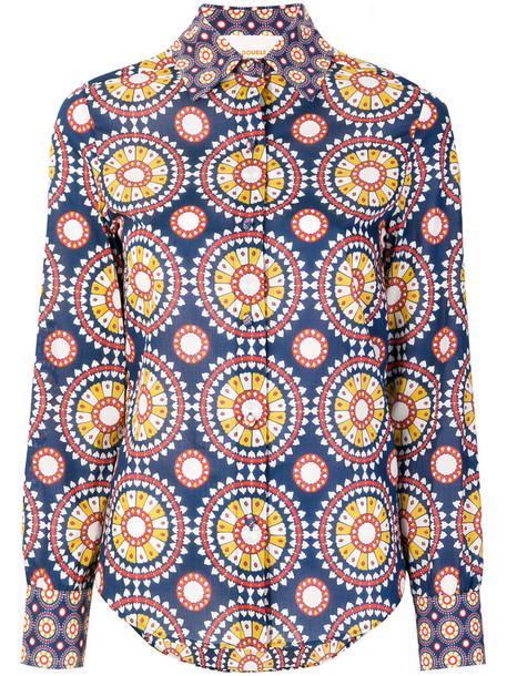 La DoubleJ shirt women cotton blue top