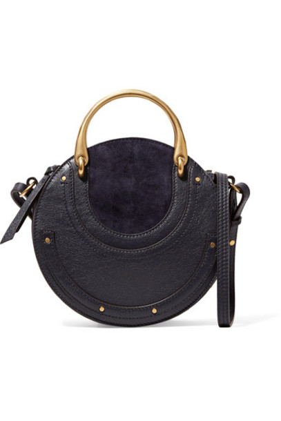 Chloe bag shoulder bag leather blue suede
