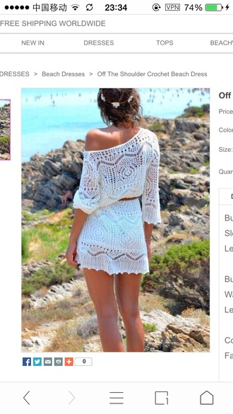 dress crochet beach dress