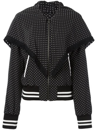 jacket bomber jacket women black silk