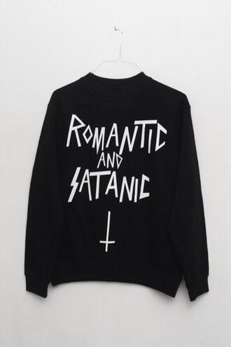 sweater black romantic satanic satan satanist hoodie