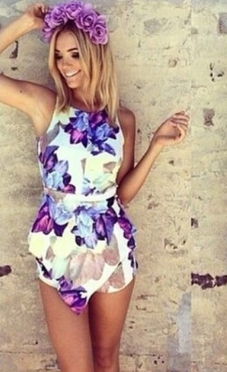 jumpsuit colorful floral summer outfits white