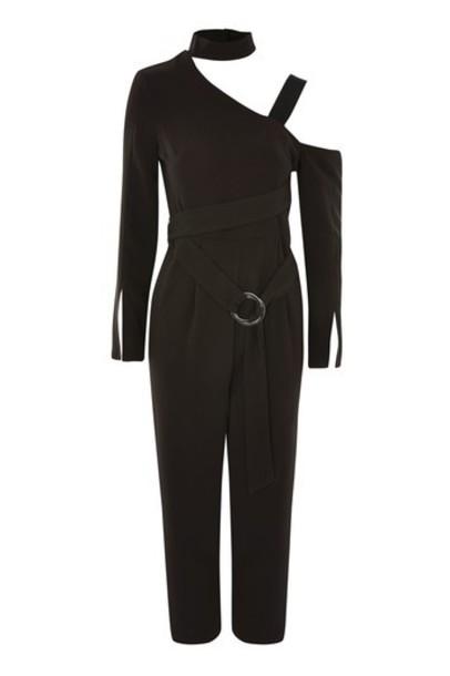 Topshop jumpsuit cold black