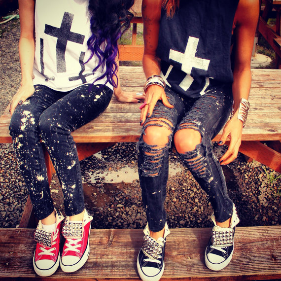 671824763 Splattered Skinnys by UrbanEclectics on Etsy on Wanelo