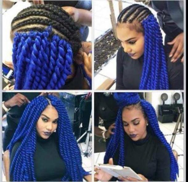 Hat Blue Hairstyles Cute Blue Hair Blue Hair Cute