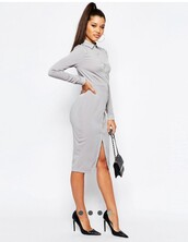 dress,fashion,summer dress,long dress,midi dress,midi skirt,fashion vibe,beautiful,office outfits,office top,grey,grey dress