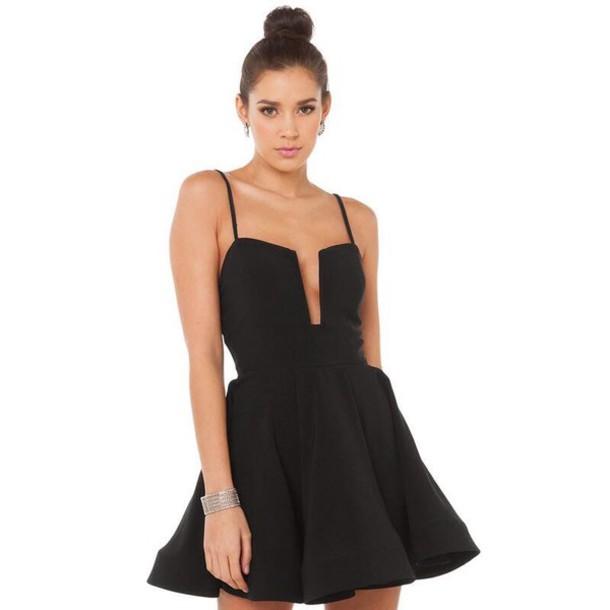 dress black dress skater dress mini dress