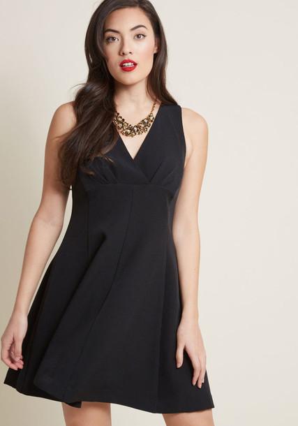 MCD1374 dress black dress pleated black