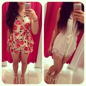 dress,floral,romper,party,short
