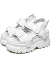 shoes,girly,girl,girly wishlist,white,platform sandals,platform shoes,strappy