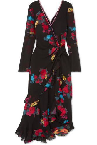 dress midi dress back midi jacquard black silk
