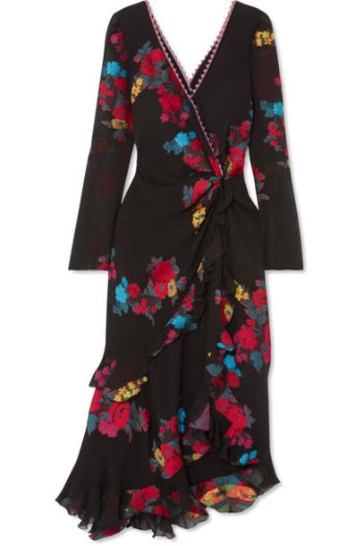 ETRO dress midi dress back midi jacquard black silk