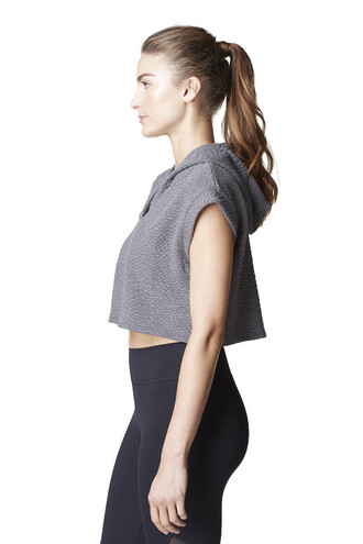 jacket michi grey luxury cropped hoodie bikiniluxe