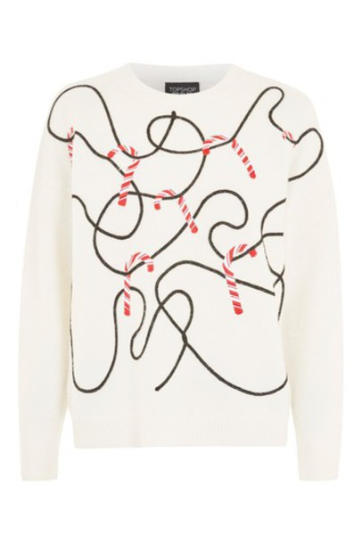 Topshop sweatshirt candy sweater