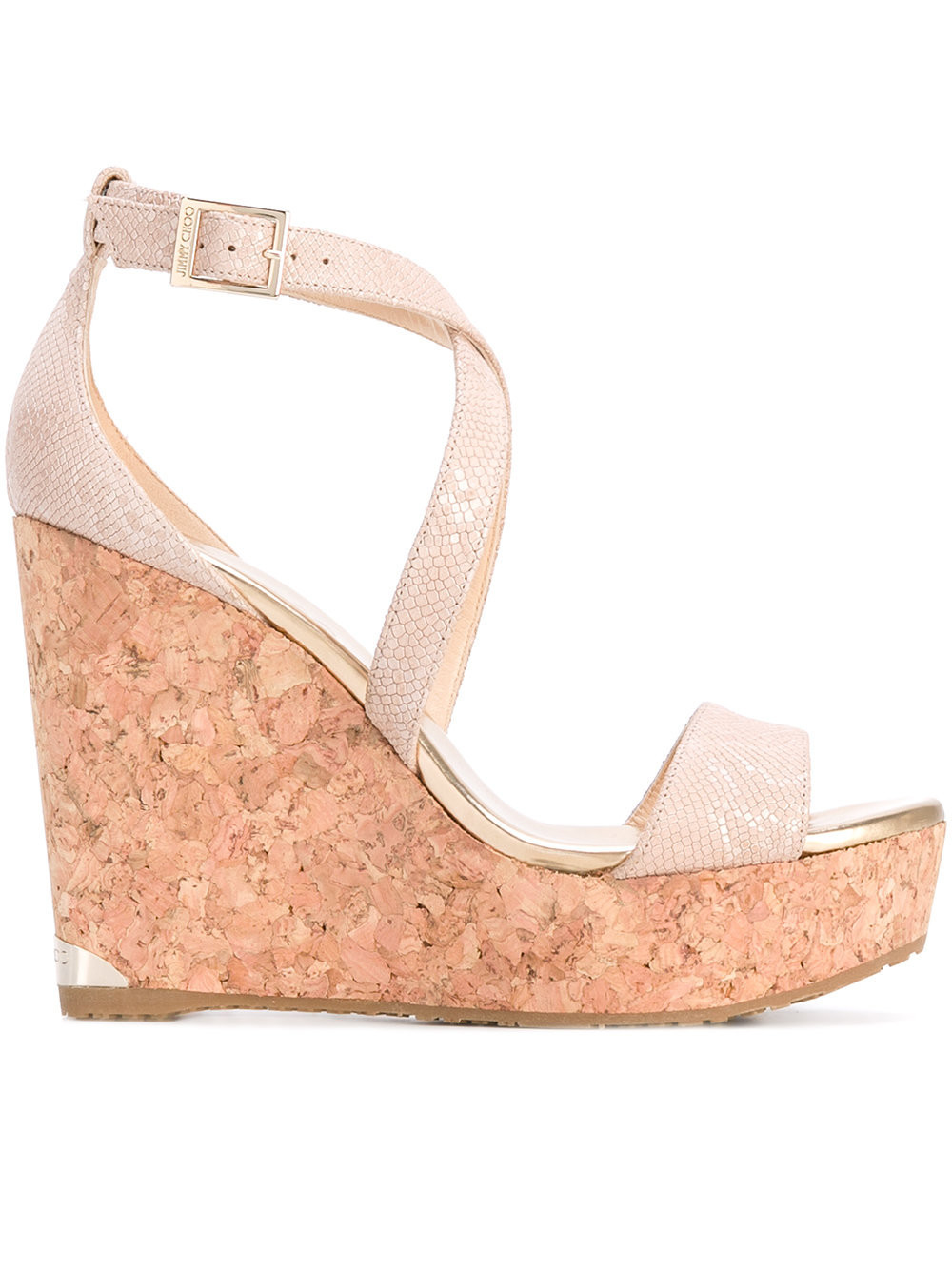 Jimmy Choo 'Portia' cork wedges - Nude & Neutrals