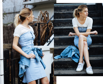camille over the rainbow blogger dress light blue white t-shirt bustier dress