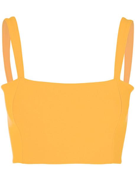 top women spandex yellow orange