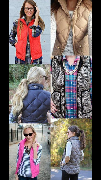 jacket gilet fall outfits