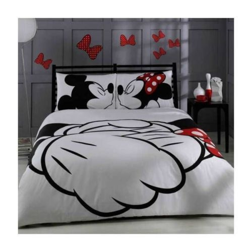 New ! disney mickey mouse minnie duvet cover   sheet   pillow case (licensed)