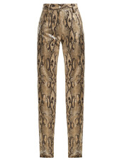 snake,high,print,beige,pants
