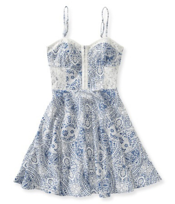 dress navy blue summer summer dress bustier cute white blue and white mini dress