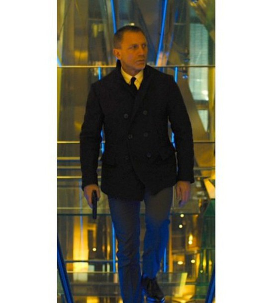 Coat Jamesbond Sky Fall New Menswear Fashion Stylish Daniel Craig Celebrity Style