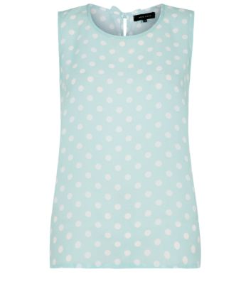 Mint Green Polka Dot Bow Back Vest