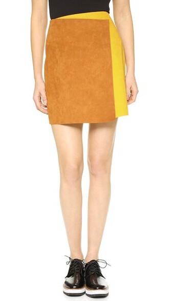 skirt colorblock yellow