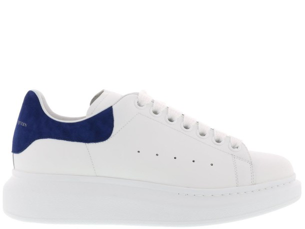 Alexander Mcqueen white blue shoes