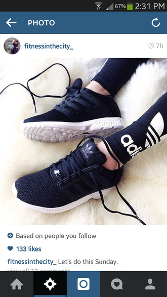 black and white adias zxflux shoes black adidas socks shows black shoes adidas shoes adidas originals flux zx superstar fashion black sneakers low top sneakers