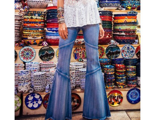jeans bell pants boho
