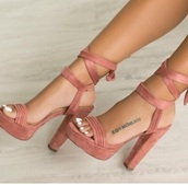 shoes,pink,daim,rose,chaussures à talons,high
