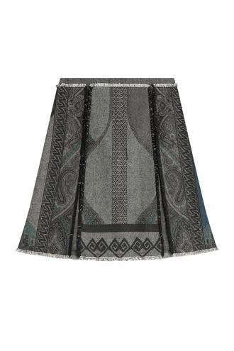 skirt printed skirt wool multicolor
