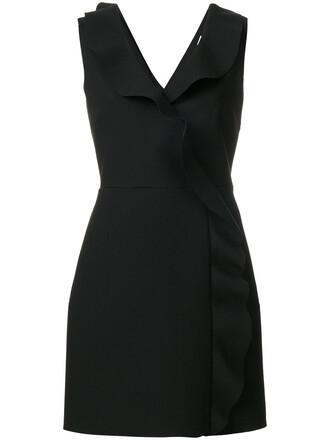 dress women v neck black