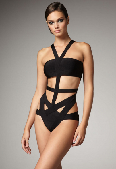 BLACK CUT OUT BANDAGE BIKINI | Wakesurfing by AMP'D HD