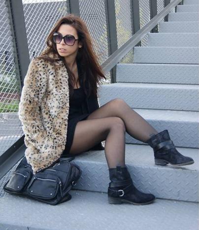Faux fur leopard coat · fashion struck · online store powered by storenvy
