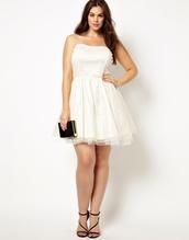 8b00b1397bf07 Curvy White Dress - Shop for Curvy White Dress on Wheretoget