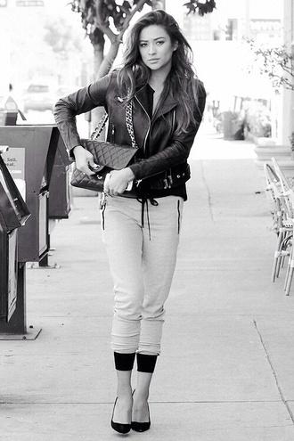 bag shay mitchell coat pants shoes