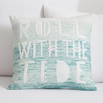home accessory pillow quote on it blue square decorative quote on it pillow