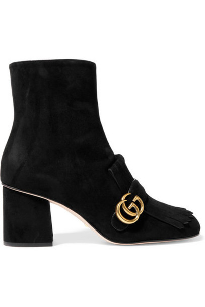 gucci suede ankle boots boots ankle boots suede black shoes