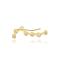 Pendiente crystal line oro